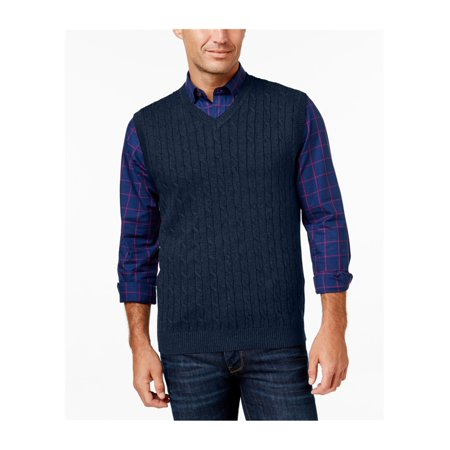 Club Room Mens Cable Knit Sweater Vest Walmart