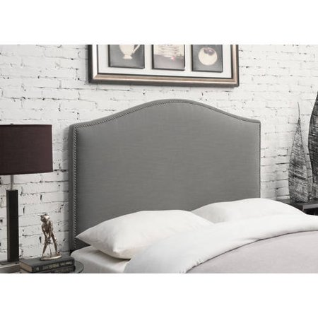 Camel Back Linen Upholstered Full/Queen Headboard, Multiple Colors ()