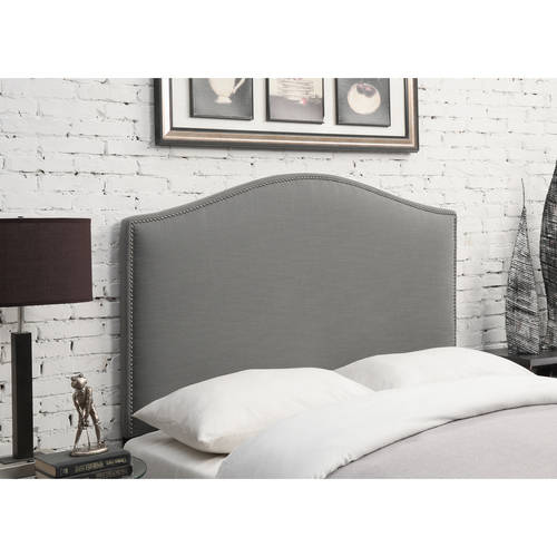 Camel Back Linen Upholstered Full/Queen Headboard, Multiple Colors