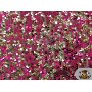"""Sequin 2 Tone Micro Pailletes Fabric FUSCHIA SILVER / 54"""" Wide / Sold by the yard"""