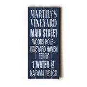 Artehouse LLC Martha's Vineyard Transit by Cory Steffen Textual Art Plaque
