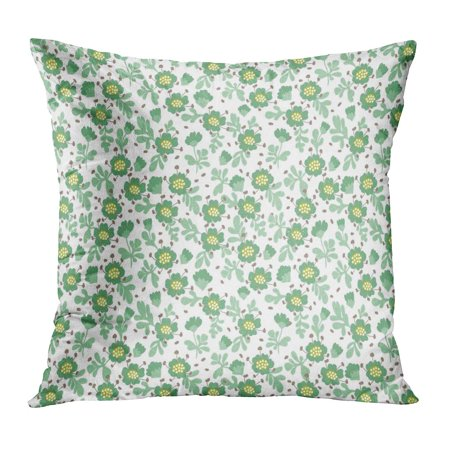 BOSDECO Colorful Abstract Cute Pattern in Small Flower Light Green for Spring Floral Pink Beautiful Blossom Color Pillow Case Pillow Cover 20x20 inch - image 1 of 1