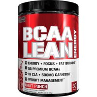 Evlution Nutrition BCAA Lean Energy Powder, Fruit Punch, 30 Servings