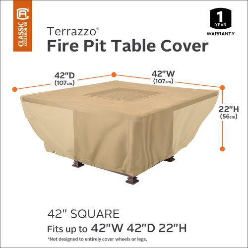 Freeport Park Terrazzo Square Patio Fire Pit Table Cover