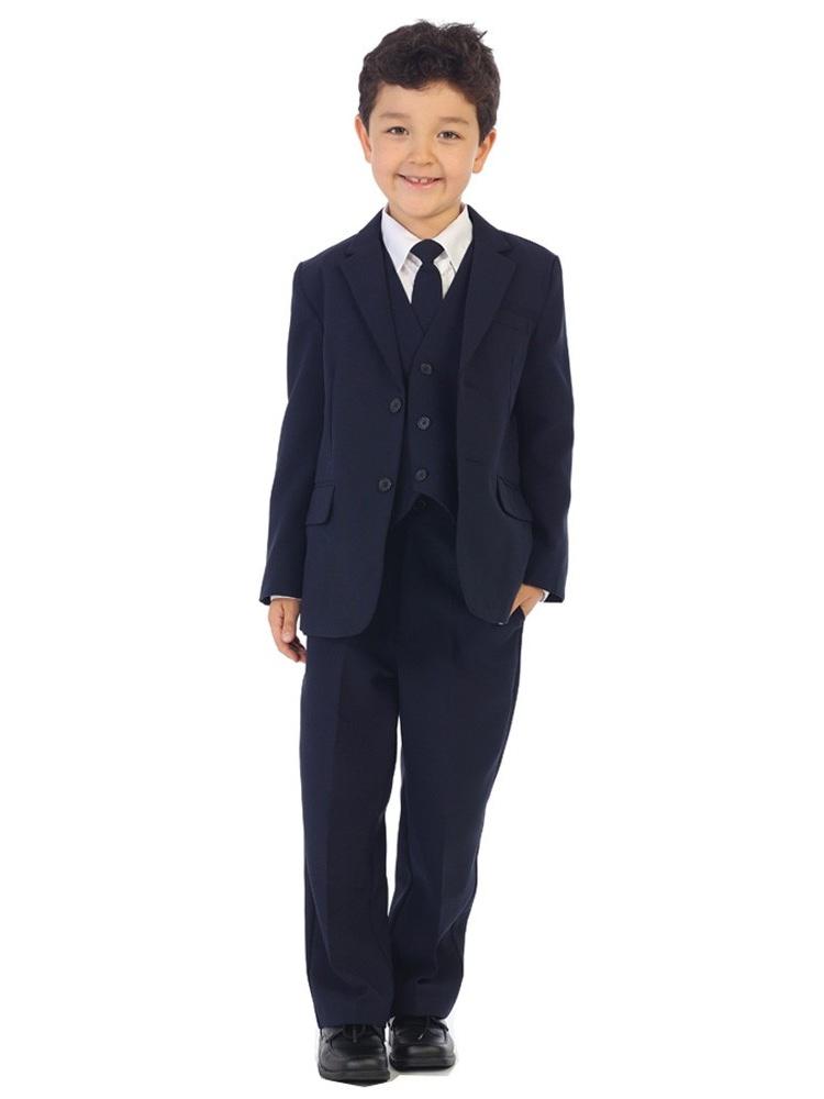 Angels Garment Boys Navy Jacket Pants Vest Tie Shirt Handsome Suit