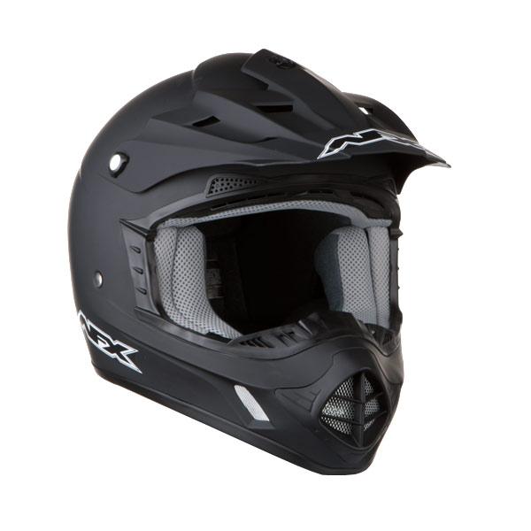 AFX FX-17 Solid MX Helmet Flat Black