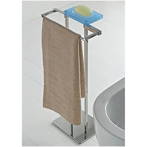 Toscanaluce by Nameeks Eden Two Function Vanity Butler Free Standing Towel Stand