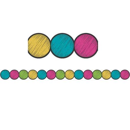 Big Chalkboard Circles - CHALKBOARD BRGHT CIRCLE BORDER TRIM