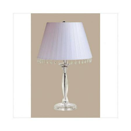 Laura Ashley Lighting Renee Table Lamp with Aida Shade in Chrome - Walmart.com