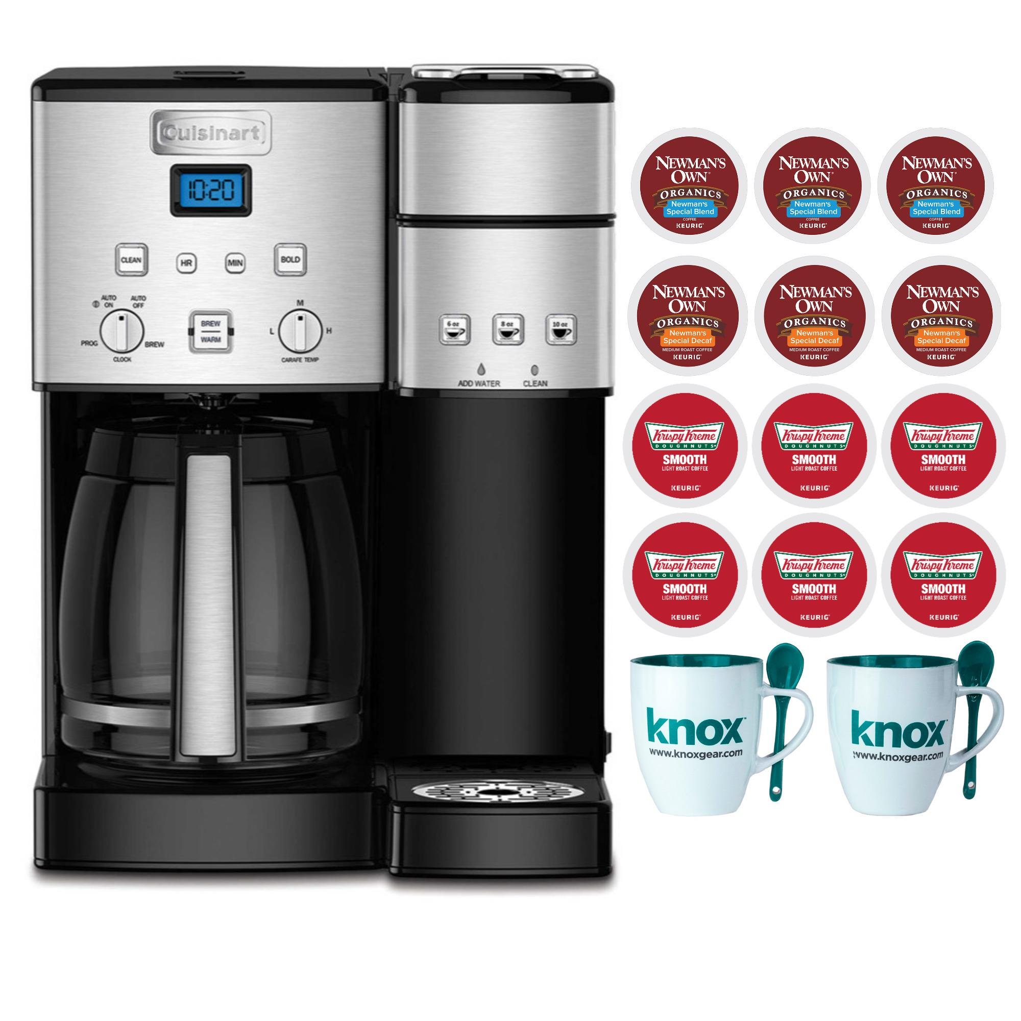 Cuisinart SS-15 12-Cup Coffee Maker, Single-Serve Brewer with 12 K-cups and Mugs (Refurbished)