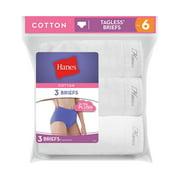 Ladies White Cotton Briefs, 3-Pack