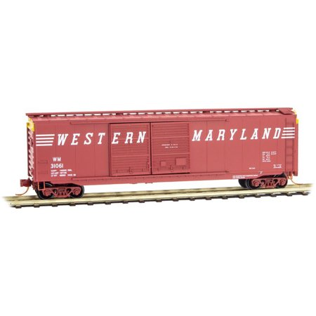 Micro-Trains MTL N-Scale 50ft. Double Door Box Car Western Maryland/WM