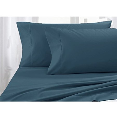 Pacific Linens Full Size - 4pc Sheet Set - Poly-Cotton Blend, 300TC,-Hospitality Grade, Comfortable and Durability - by Pacific Linens (Indigo Blue)](Halloween Sheets For Third Grade)