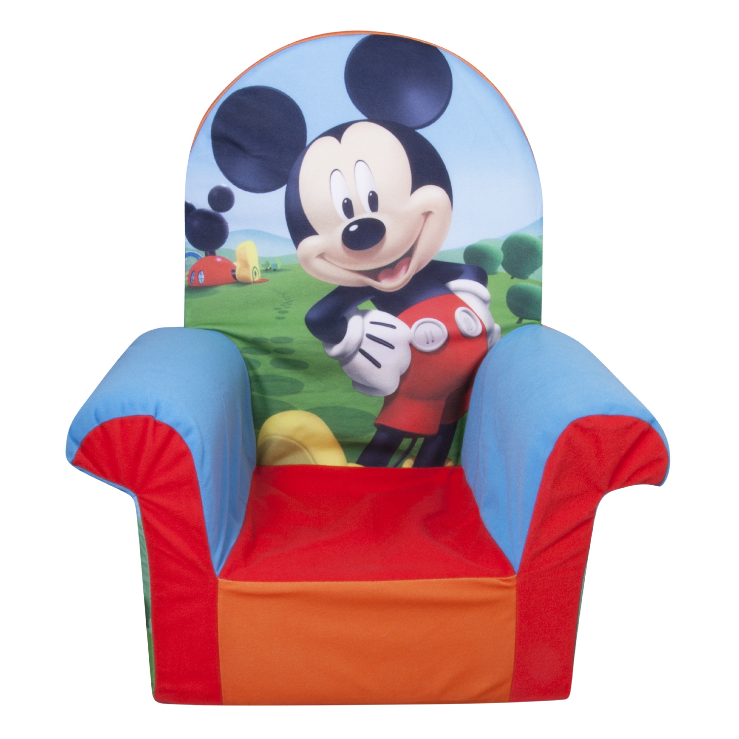 Marshmallow Furniture, Children′s Foam High Back Chair, Disney Mickey Mouse Clubhouse, by Spin Master