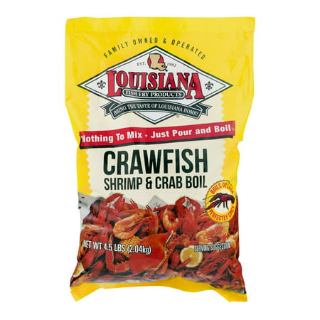 - Louisiana Fish Fry Crawfish Shrimp & Crab Boil, 4.5 LB