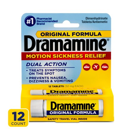 Dramamine Original Formula Motion Sickness Relief, 12 Count