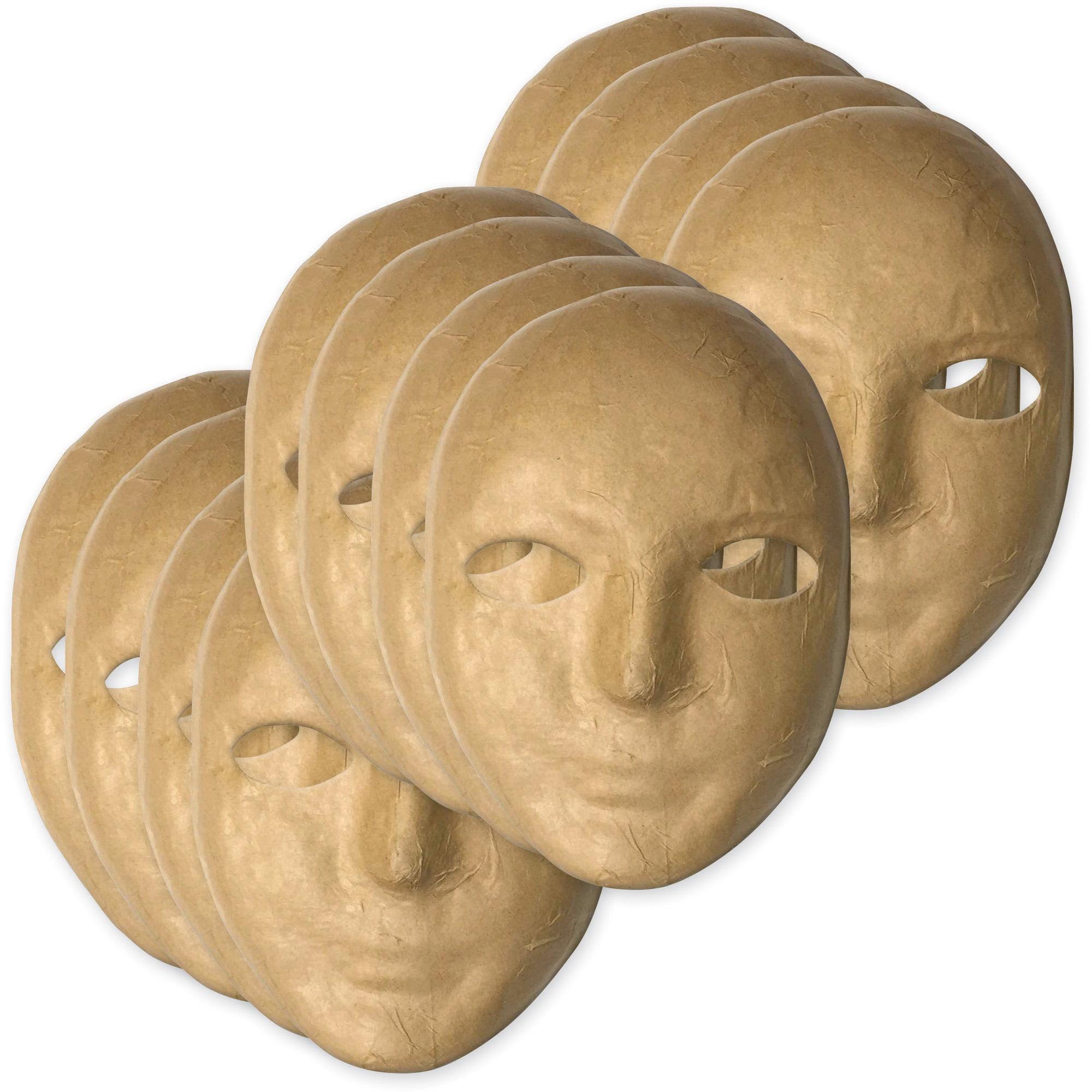 Creativity Street, CKC419012, Paper Mache Masks, 12 / Set, Natural