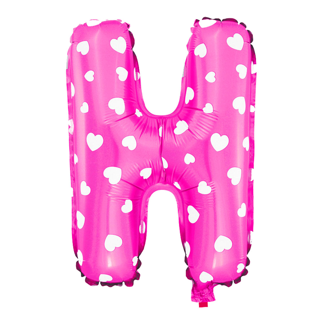 Unique Bargains Foil Letter H Heart Pattern Helium Balloon Birthday Wedding Decor Fuchsia 16""