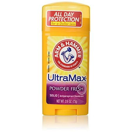 6 Pack - Arm & Hammer ULTRAMAX Anti-Perspirant Deodorant Powder Fresh 2.6oz Each
