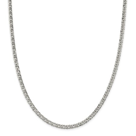 Sterling Silver 4.25mm Double 6 Side D/C Flat Link Chain Necklace or Bracelet
