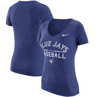 Women's Nike Heathered Royal Toronto Blue Jays Practice 1.7 Tri-Blend V-Neck T-Shirt