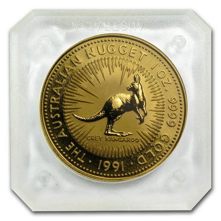 Australian Nugget (1991 Australia 1 oz Gold Nugget BU )