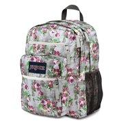 Jansport Big Student Gray Floral Backpack Bag School Book Storage Daypack
