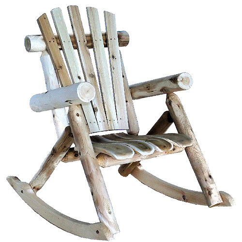 cedar log rocking chair