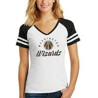 Washington Wizards Women's Holographic V-Neck Jersey T-Shirt - White