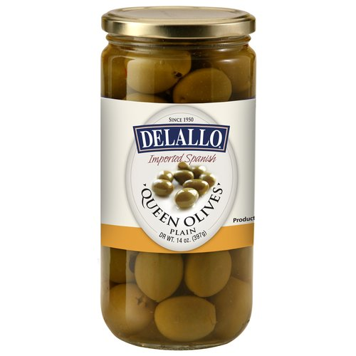 DeLallo Plain Queen Olives, 14 oz
