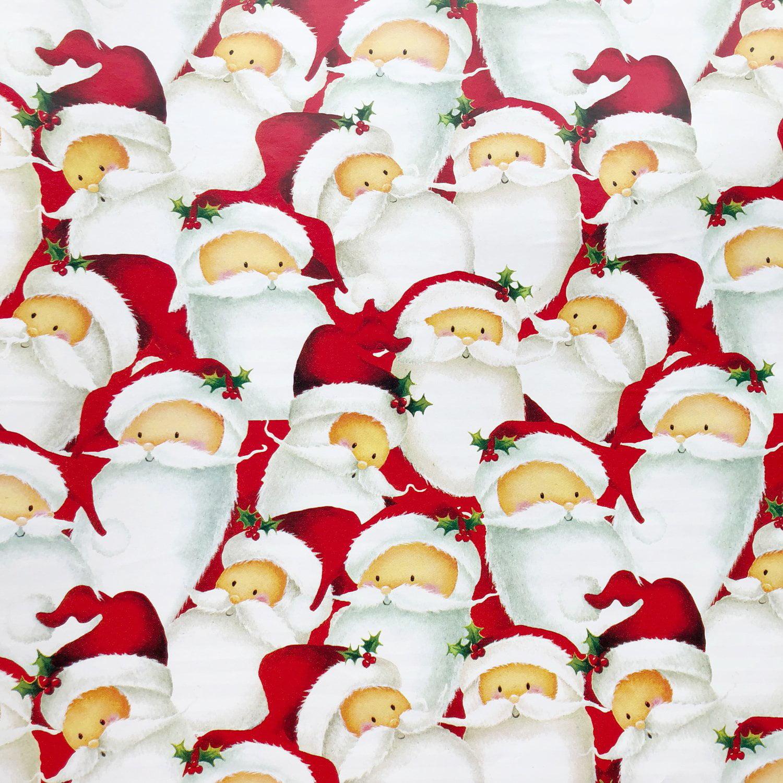 Jillson & Roberts Gift Wrap, Santa (6 Jumbo Rolls 10ft x 30in)