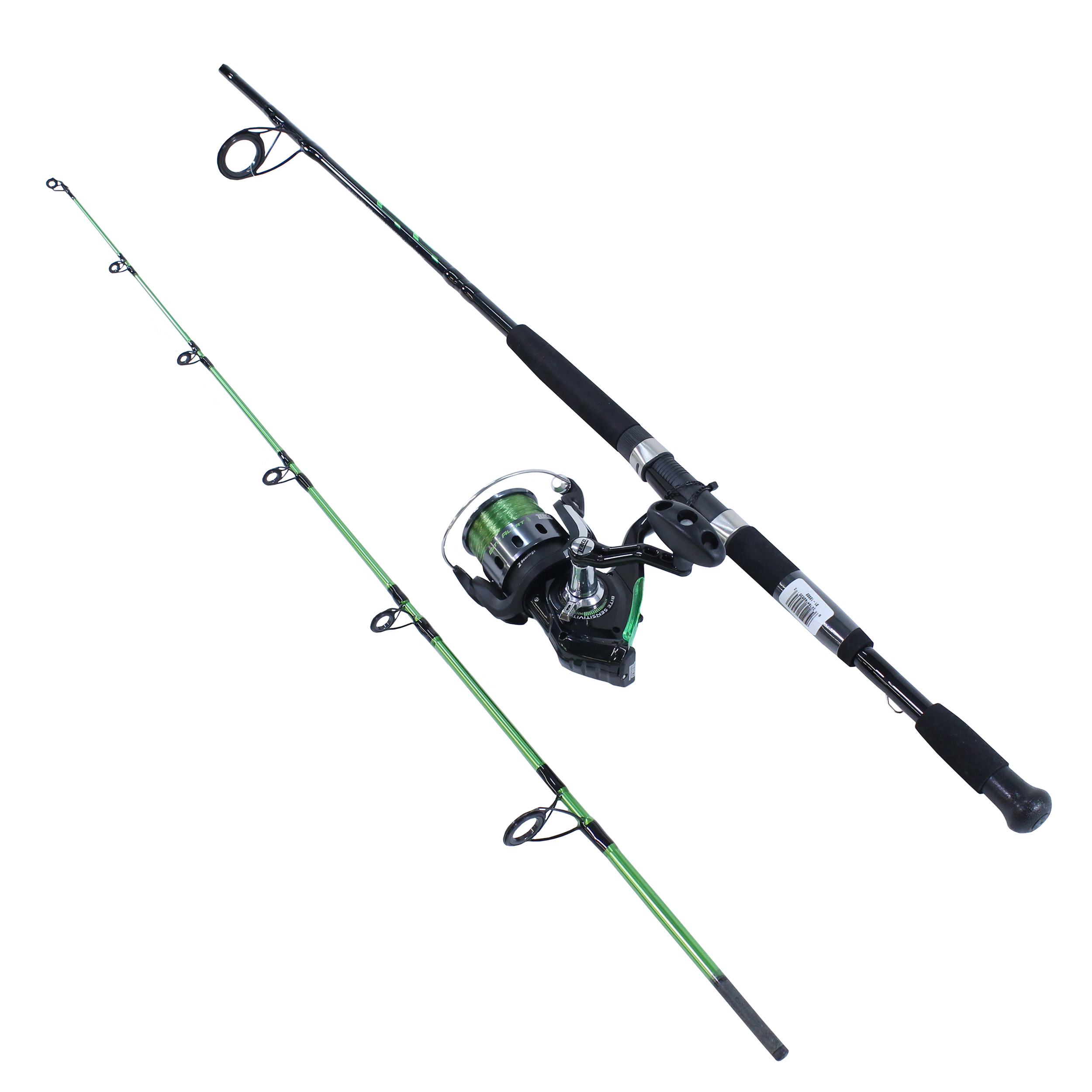 Zebco / Quantum Bite Alert Spinning Combo, 4.9:1 Gear Ratio, 7' 2pc Rod, 17-50 lb Line Rating