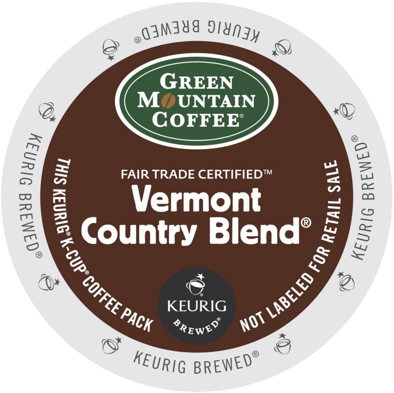 Green Mountain Coffee Vermont Country Blend K-Cup for Keurig Brewers (Pack of 96)
