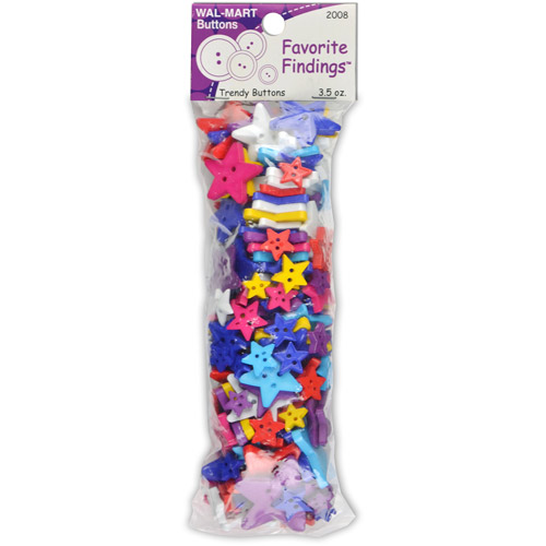 Favorite Findings Value Pack of Buttons- Stars, Multi-Color