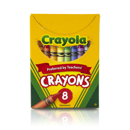 Crayola Classic Crayons, 8 Count In Primary And Secondary -