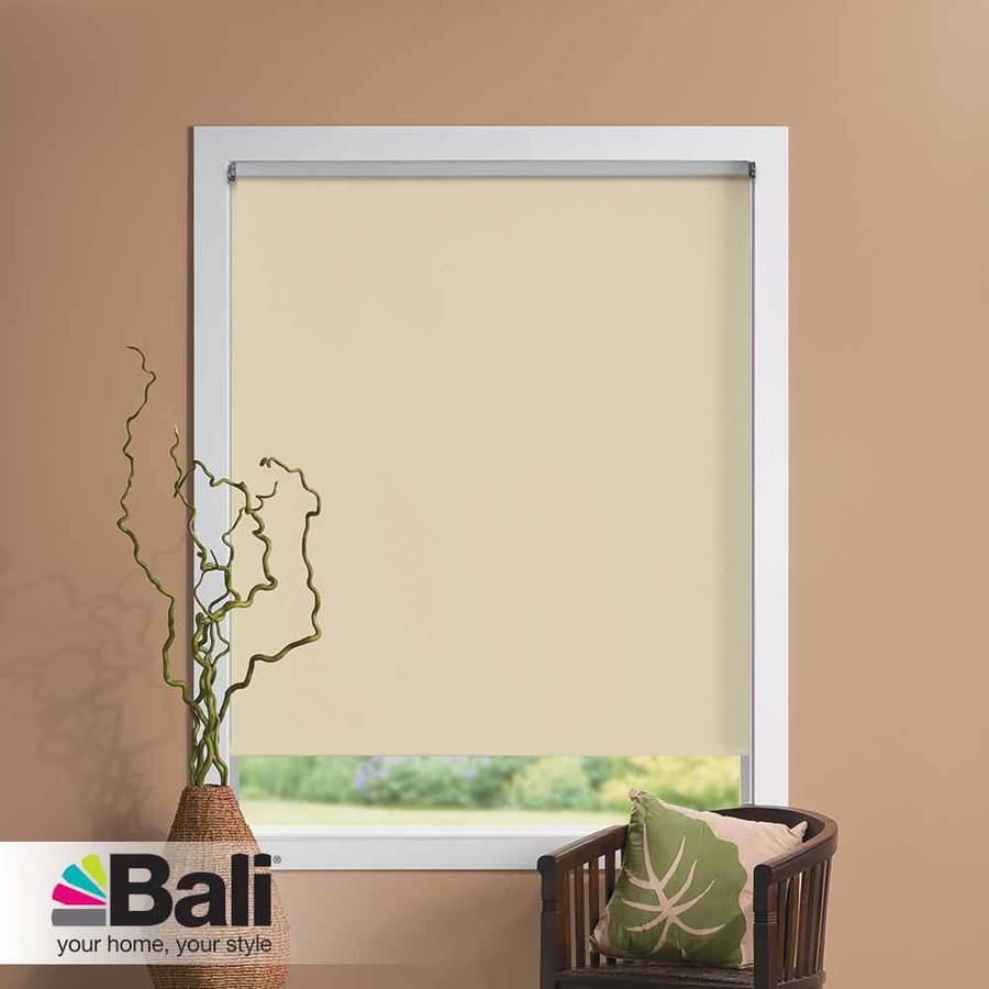 bali size at home blackout roller shade white or cream