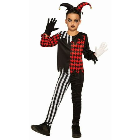 Halloween Dark Jester Child Costume - Evil Jester Halloween Makeup