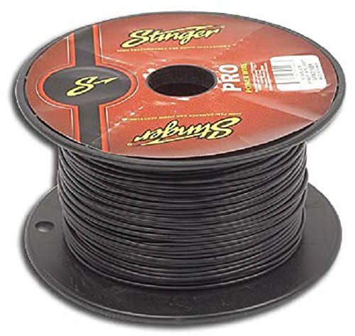 Stinger SPW318BK1 PRO Series 18 Gauge Primary Wire 1000-Feet (Black)
