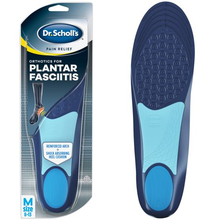 Dr. Scholl's Pain Relief Orthotics for Plantar Fasciitis for Men, 1 Pair, Size