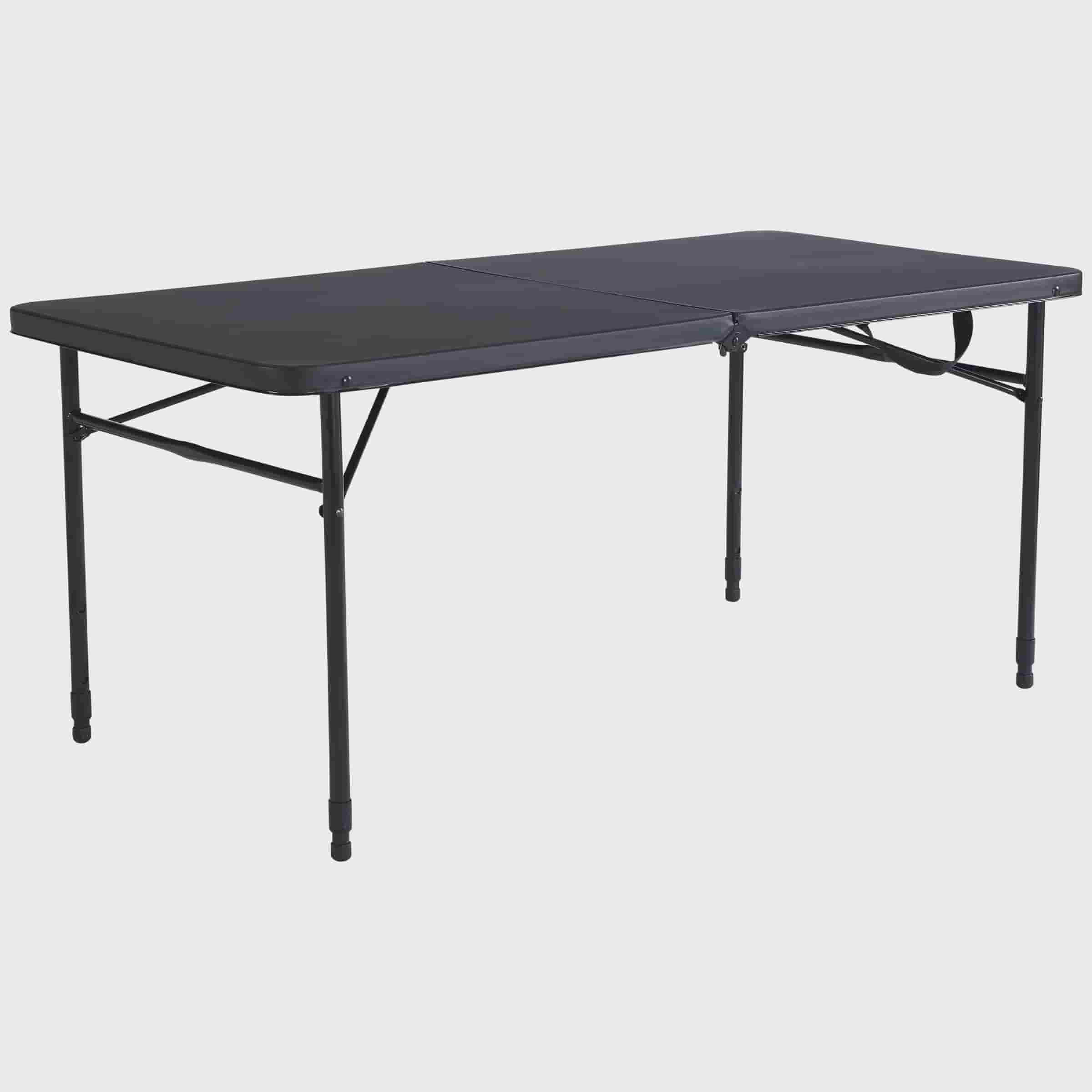 2 Pack Mainstays 48 Quot Fold In Half Table Rich Black