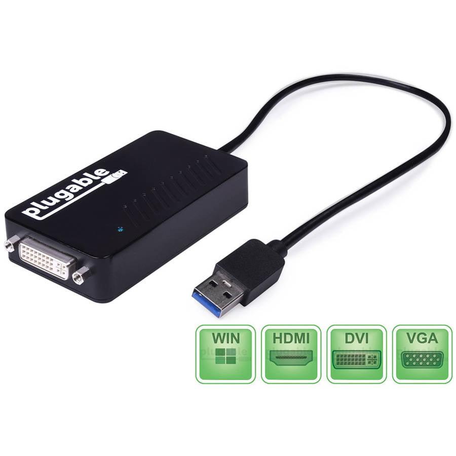 Plugable USB 3.0 HDMI/DVI/VGA Adapter for Multiple Monitors