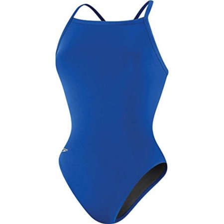 Speedo 819016 Womens Solid Endurance Flyback Training Suit, Sapphire, 28