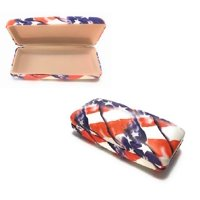 USA Flag Hard Shell Eyeglass Case for Reading Glasses and Small Sunglasses Perfect Gift for Patriot