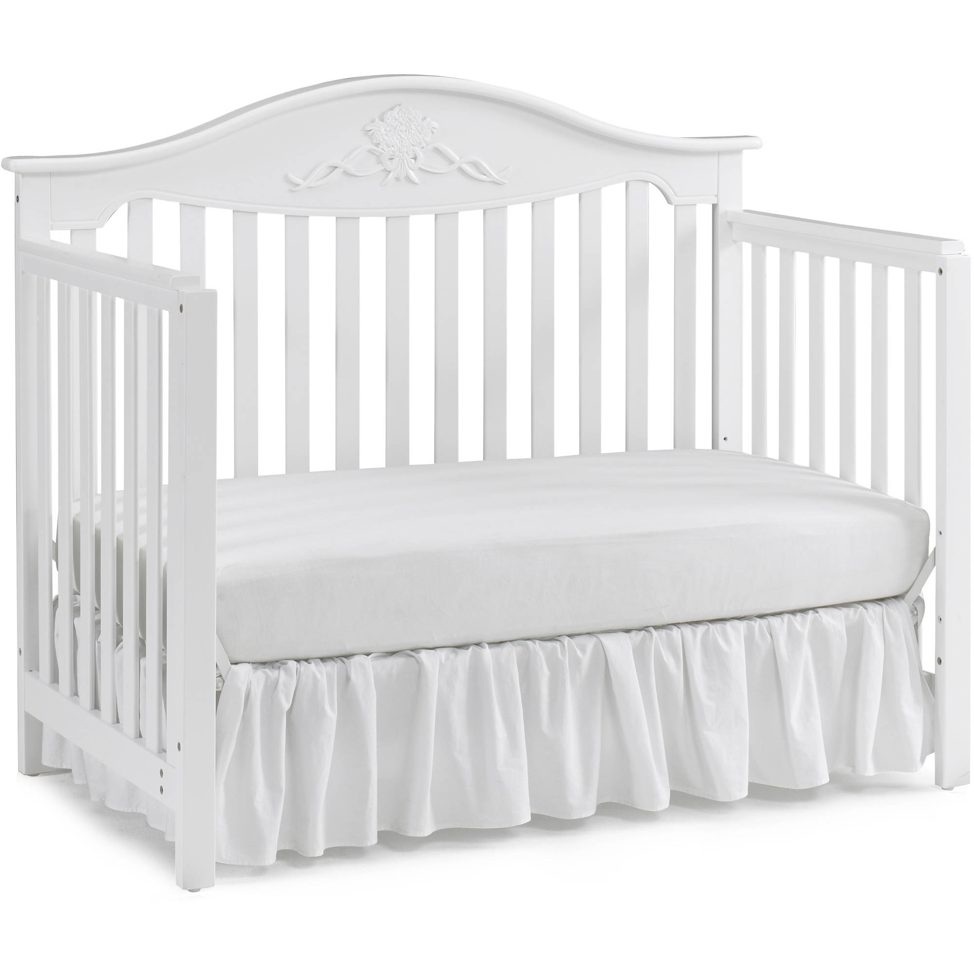 Fisher Price Mia 4 In 1 Convertible Crib Snow White Walmartcom