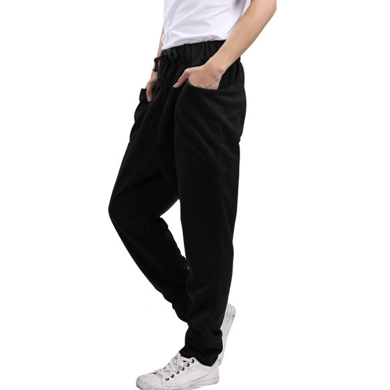 a4c8aee23e Mens Casual Side Pockets Stretchy Stylish Baggy Pants Dark Blue W32/34