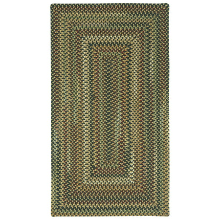 Capel Rugs - Bangor Concentric Rectangle Braided Rugs Concentric Braided Wool Rugs