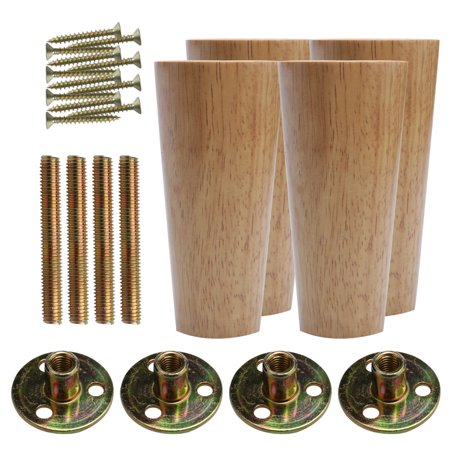 Admirable 5 Inch Round Wood Furniture Legs Cabinet Feet Replacement Complete Home Design Collection Epsylindsey Bellcom