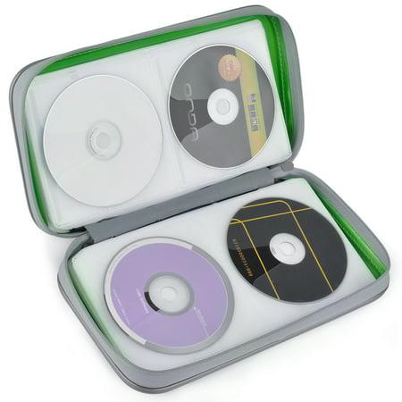 80 Capacity Hard Plastic CD Binder Protective CD Case Holder Portable CD Wallet Disc DVD CD Media Storage Organizer Carry Handbag with Zipper for Storage 2008 Hard Plastic Case