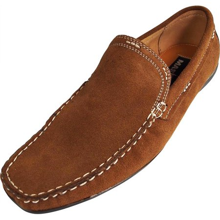 Masimo   Mens Slip On Casual Dress Suede Driving Moccasin   Driver Mocs