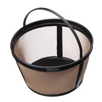 1Pcs Replacement Washable & Reusable Permanent Coffee Filter Basket Fits Coffee Makers, Big Size / #4 Cone Shape